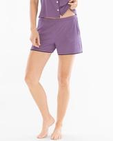 Soma Intimates Satin Trim Pajama Shorts Shadow Plum