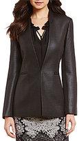 Antonio Melani Etta Coated Jacquard Blazer Jacket