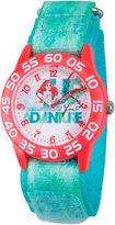 Disney The Little Mermaid Girls Blue Strap Watch-W002903