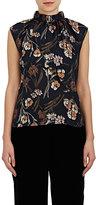 Derek Lam 10 Crosby Women's Floral Textured Silk-Blend Twill Blouse
