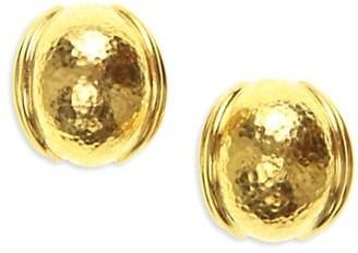 Elizabeth Locke Small 19K Yellow Gold Puff Earrings