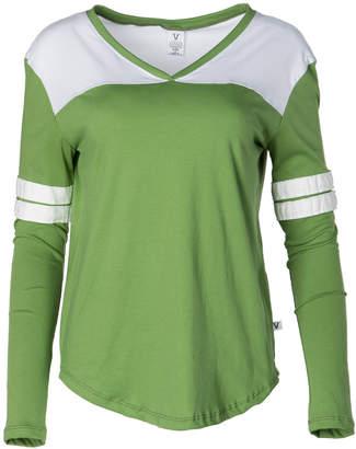 Venley Women's Tee Shirts Irish - Irish Green & White Long-Sleeve Hockey Tee - Women