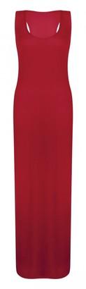 ZET Ladies New Plain Sleeveless Scoop Neck Racer Back Womens Plus Size Long Jersey Summer Maxi Dress 8-26 (XL (16-18 UK)