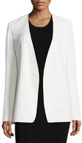 Alexander Wang Crepe Open-Front Blazer, Off White