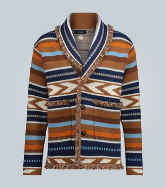 Alanui Mexican Blanket knitted cardigan