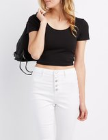 Charlotte Russe T-Back Crop Top