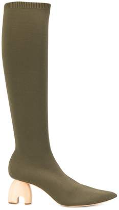 Nanushka knitted knee-length boots