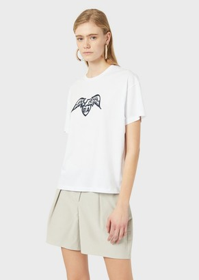 Emporio Armani Pima T-Shirt With Eagle Logo