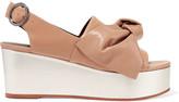 Tibi Estel embellished leather platform sandals