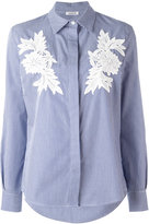 P.A.R.O.S.H. embroidered flowers striped shirt - women - Cotton - L