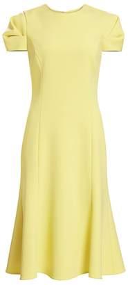 Jason Wu Collection Compact Crepe Fluted Sheath Dress