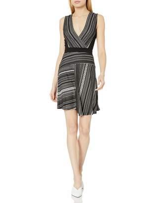 BCBGMAXAZRIA Azria Women's Brecklyn Faux-Wrap Jacquard Dress