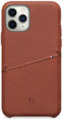 Decoded Leather Card Case for iPhone 11 Pro - Brown