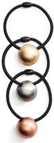 Tasha 3-Pack Ball Charm Ponytail Holders