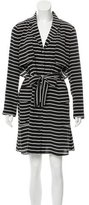 Marissa Webb Striped Silk Mini Dress