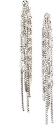 CRISTABELLE Crystal Linear Tassel Fringe Earrings