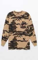 Brixton Stith Camouflage Long Sleeve Pocket T-Shirt