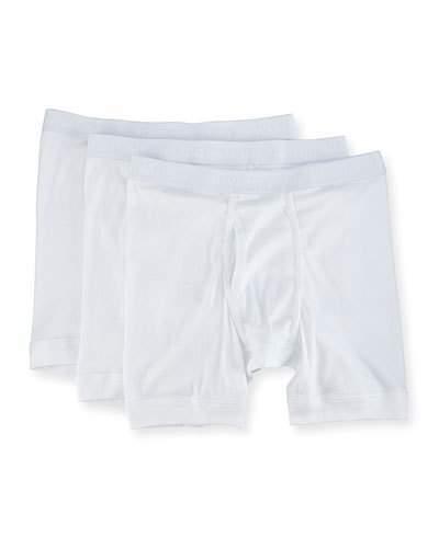 Neiman Marcus 3-Pack Mercerized Cotton Boxer Briefs