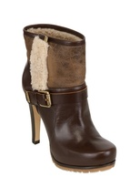Grey Mer 110mm Calf Suede Shearling Boots