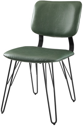 Hewson Set Of 2 Mid-Century Faux Leather Accent Dining Chairs