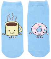 Forever 21 FOREVER 21+ Coffee and Donut Ankle Socks