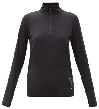 Bogner Fire & Ice Margo Quarter-zip Jersey Base-layer Top - Black