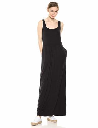 Daily Ritual Amazon Brand Women's Jersey Sleeveless Empire-Waist Maxi Dress
