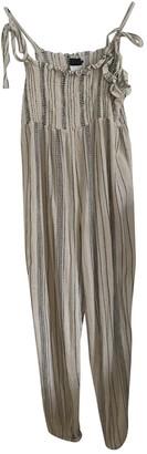 Hatch Ecru Cotton Jumpsuit for Women