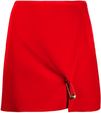 Versace Safety Pin Detailed Mini Skirt