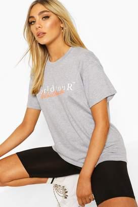 boohoo Worldwide Graphic Print T-Shirt