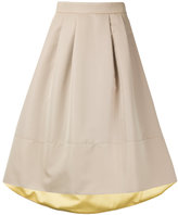 Loveless - high low hem full midi skirt - women - Polyester/Cupro - 34