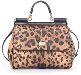 Dolce & Gabbana 'Miss Sicily' Top Handle Leather Satchel - Brown