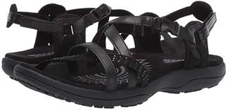 Skechers Reggae Slim - Festivity (Black/Black) Women's Sandals