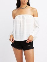 Charlotte Russe Embroidered Off-The-Shoulder Blouse