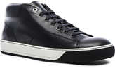 Lanvin Nappa Leather Mid Top Sneakers