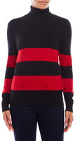 Joseph A Striped Turtleneck Sweater