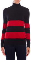 Joseph A Striped Turtleneck Sweater