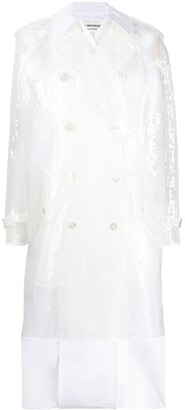 Junya Watanabe Sequin-Embellished Trench Coat