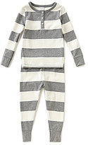 Starting Out Little Boys 2T-4T Striped Henley Top & Pants Pajama Set