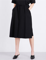 Jil Sander Drawstring cotton-poplin midi skirt