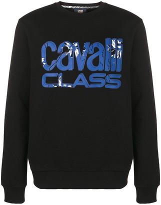 Class Roberto Cavalli Logo Print Sweatshirt