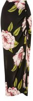 Topshop Floral Print Maxi Skirt