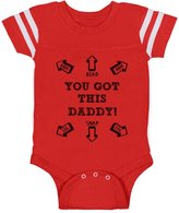 TeeStars You Got This Daddy Funny Newborn Father's Day Gift Cute Baby Jersey Bodysuit 6M