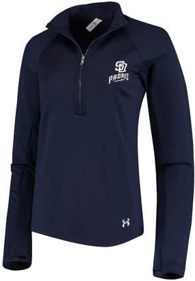 Under Armour Women's Navy San Diego Padres Team Logo Half-Zip Performance Jacket