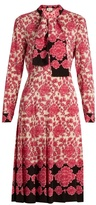 Gucci Porcelain Floral-print silk dress