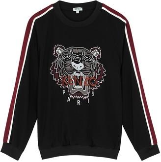 Kenzo Black Tiger-embroidered Sweatshirt