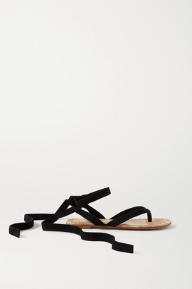 Gianvito Rossi Suede Sandals - Black