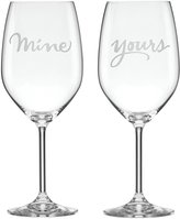 Kate Spade Two Of A Kind Mine & Yours Wine Set - Clear