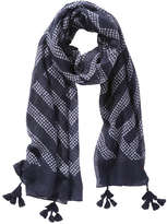 Joe Fresh Women's Tassel Scarf, JF Midnight Blue (Size O/S)