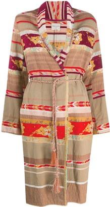 Forte Forte Patchwork Design Belted Coat